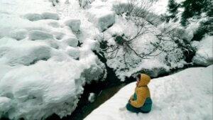 雪の上でのひととき